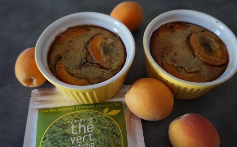 Clafoutis abricots thématcha