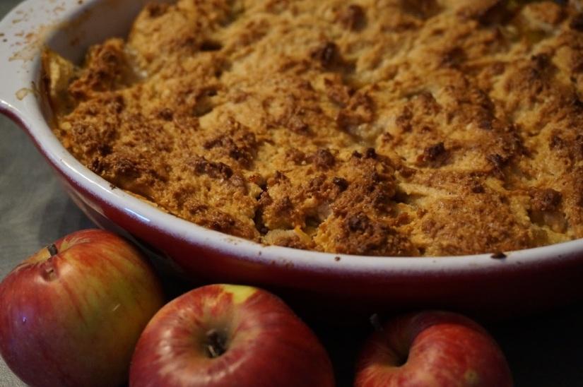 Cobbler pommes et reines claudes (sansbeurre)
