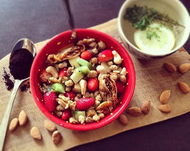 Petit déjeuner au graines dechia…