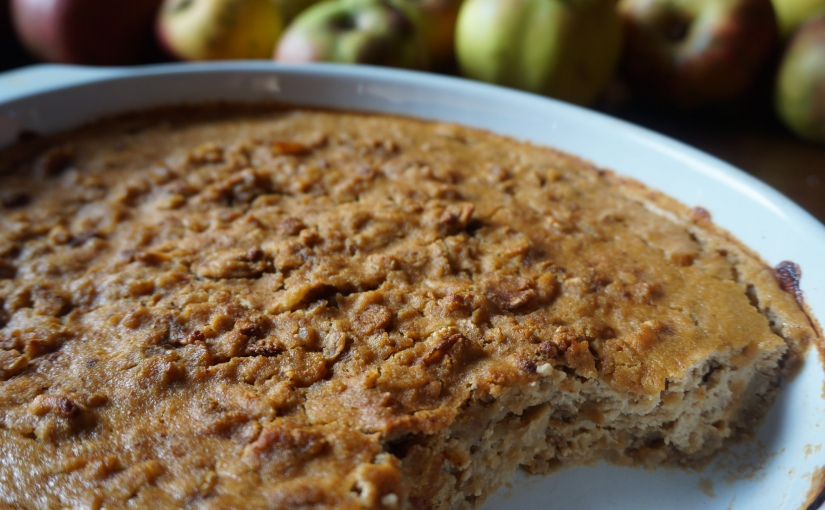 Dessert automnal pommes, châtaignes et cannelle (vegan, sansgluten)